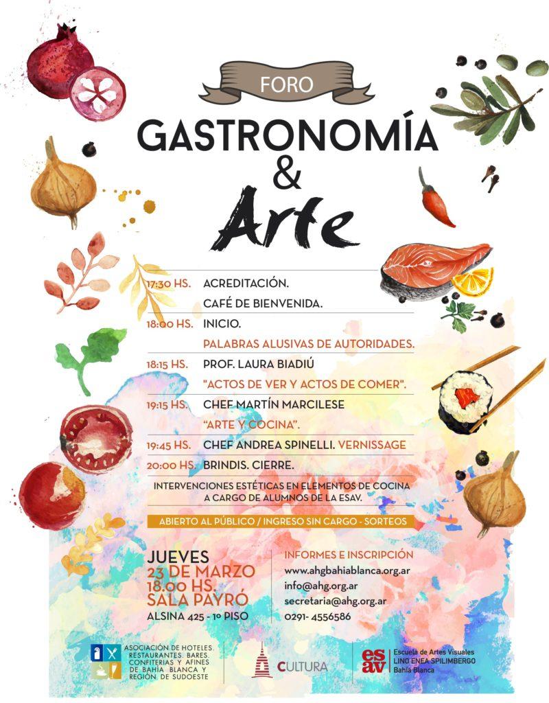 AFICHE FORO GASTRONOMÍA & ARTE
